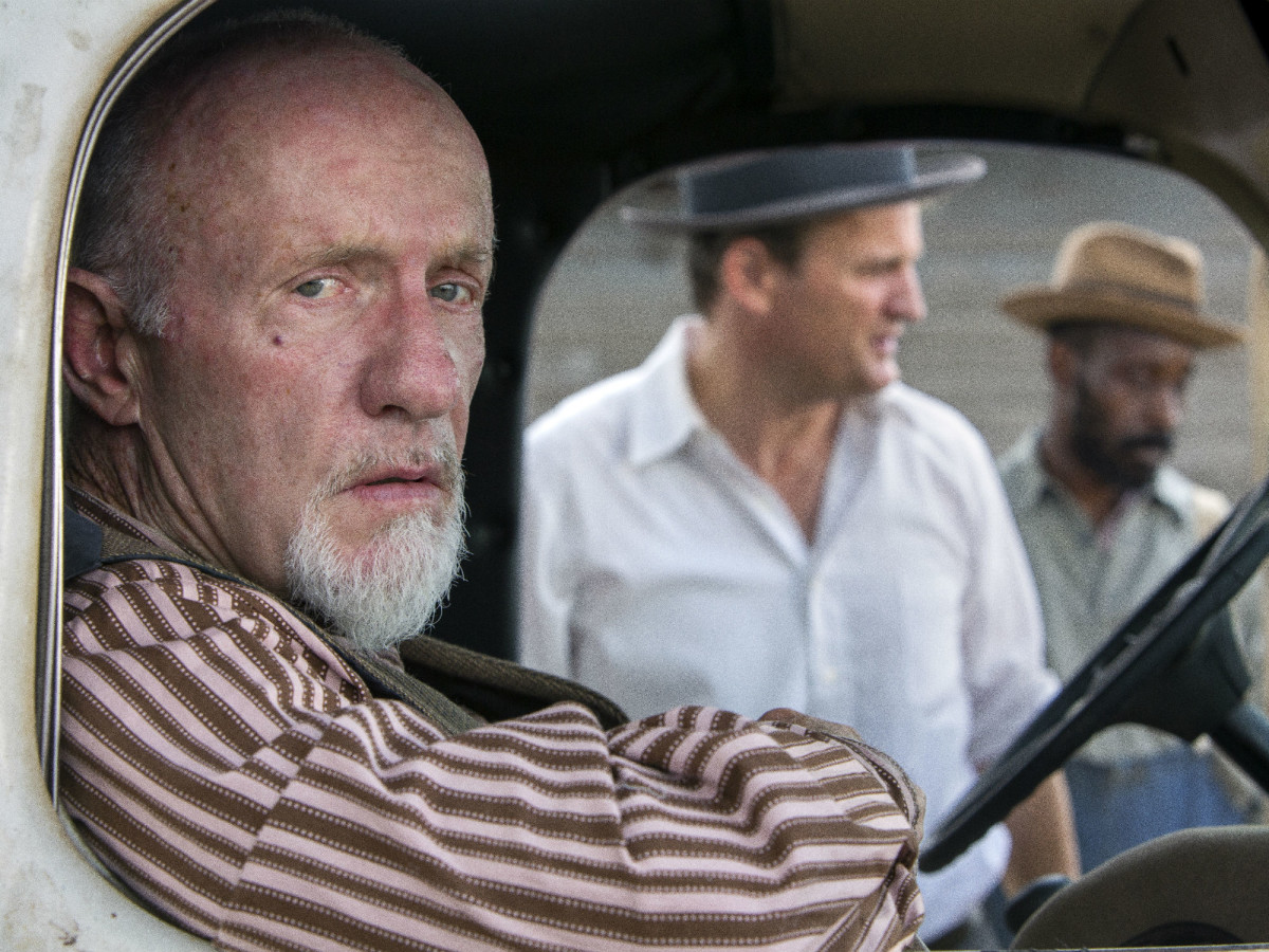 Jonathan Banks, Jason Clarke, and Rob Morgan in Mudbound