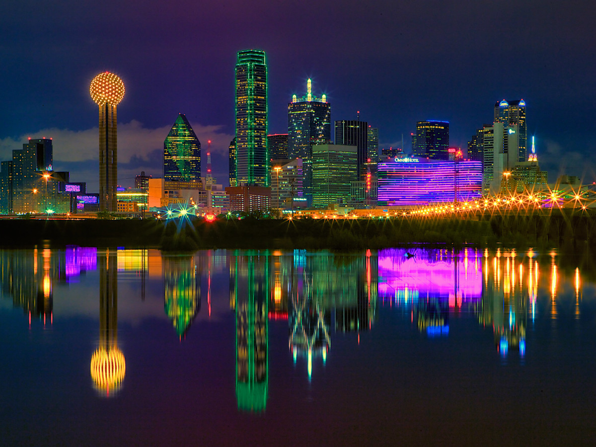 Image result for dallas at night
