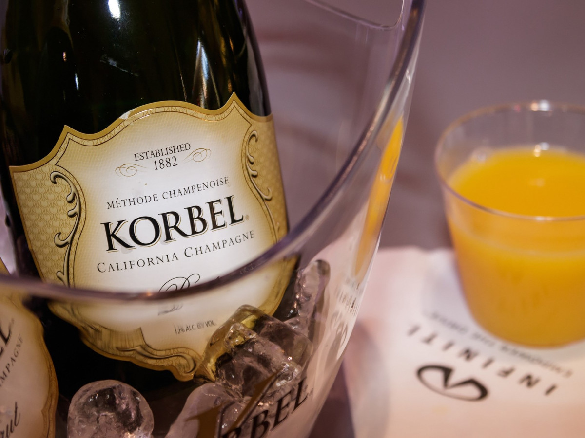 Korbel, mimosa, 2017 CultureMap Dallas Holiday Pop-up