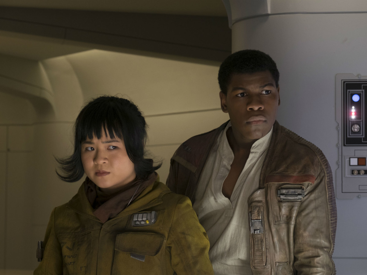 Kelly Marie Tran and John Boyega in Star Wars: The Last Jedi
