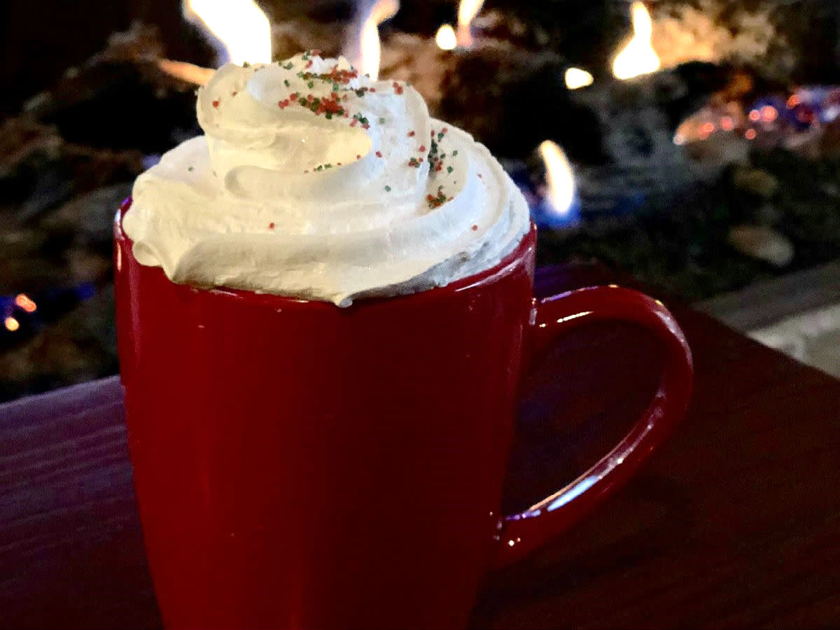 America Gardens, spiked hot cocoa