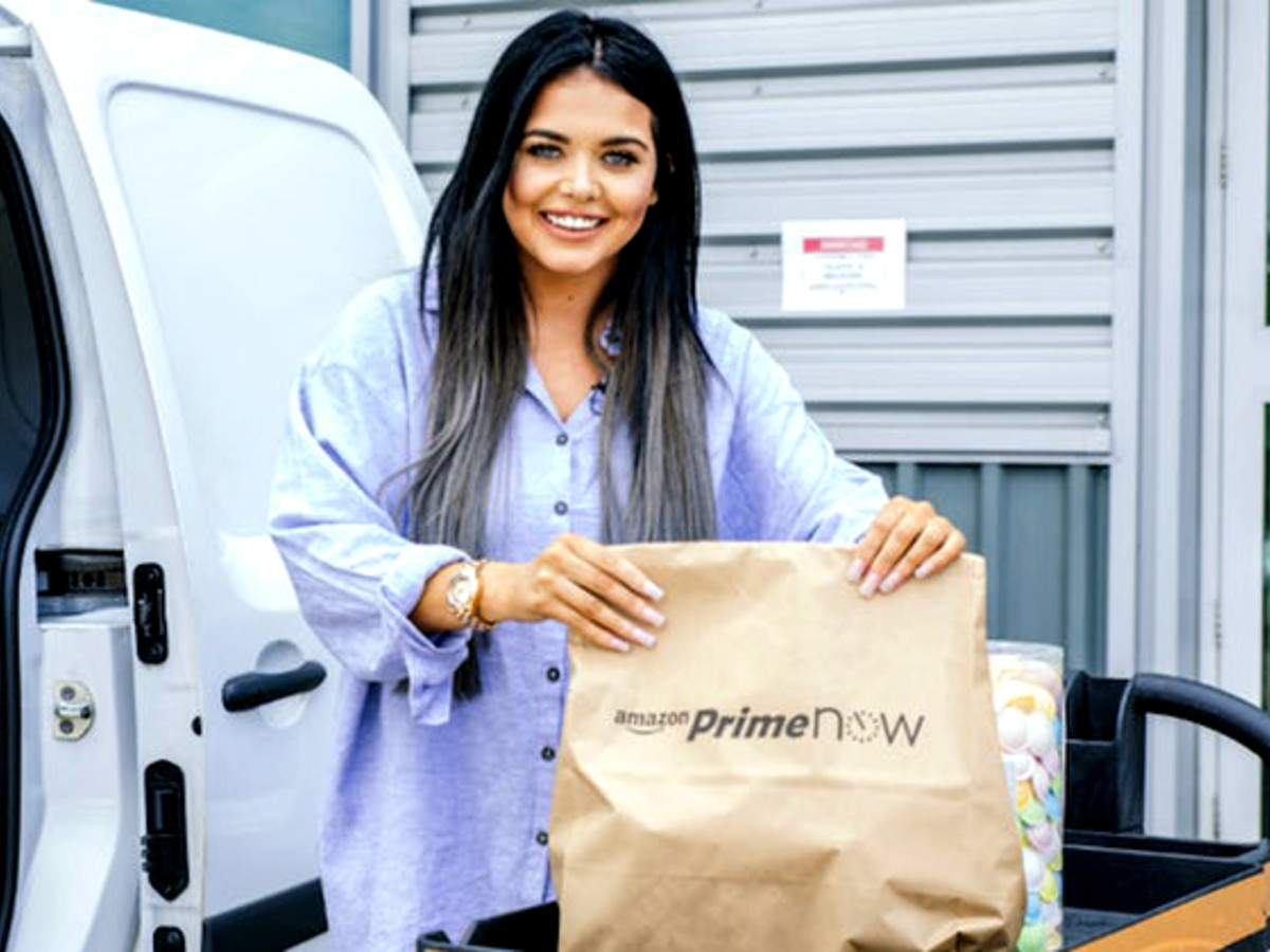 Houston Amazon Prime Now bag