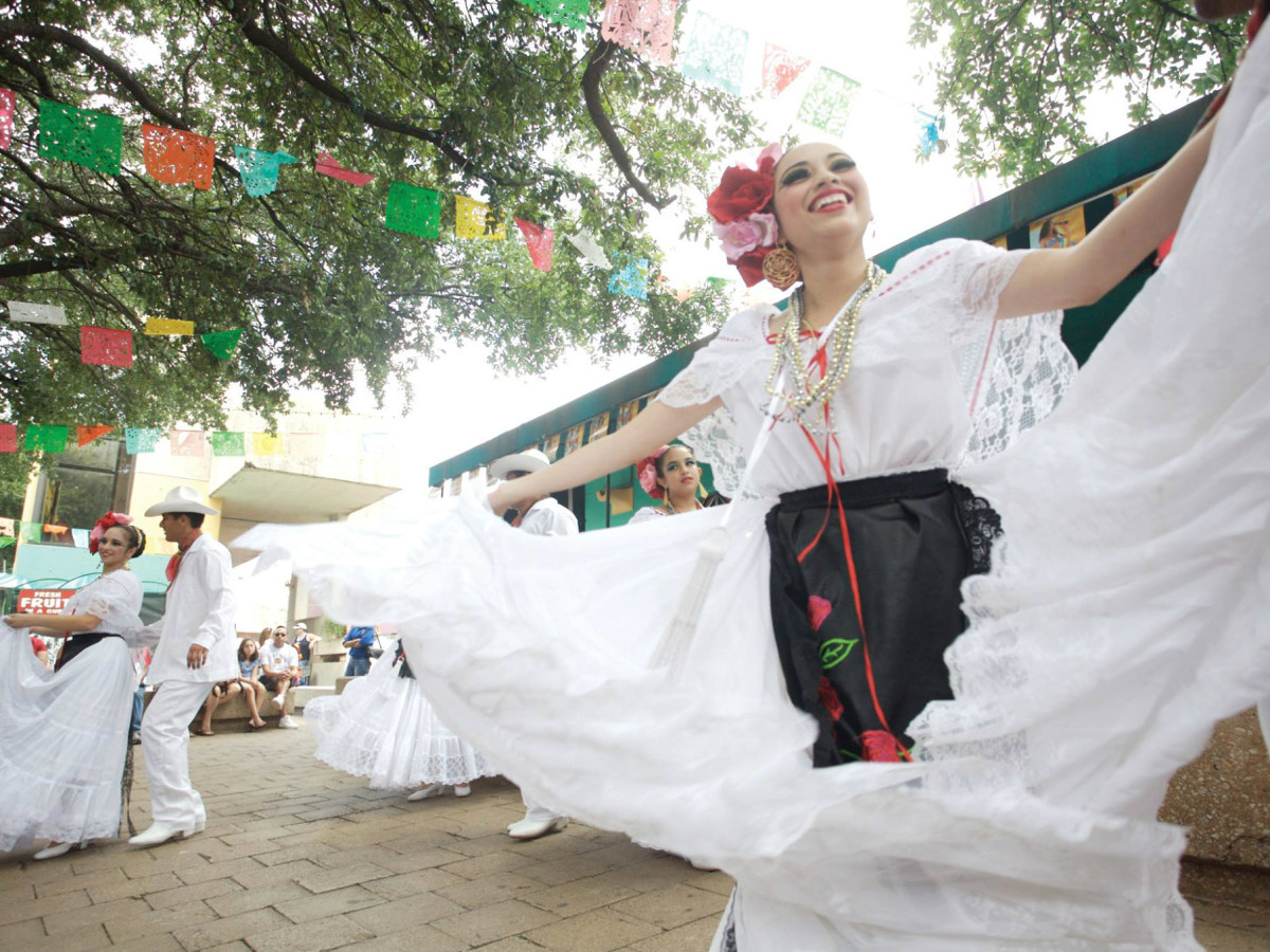 San antonio celebration hispanic heritage month woman dancing