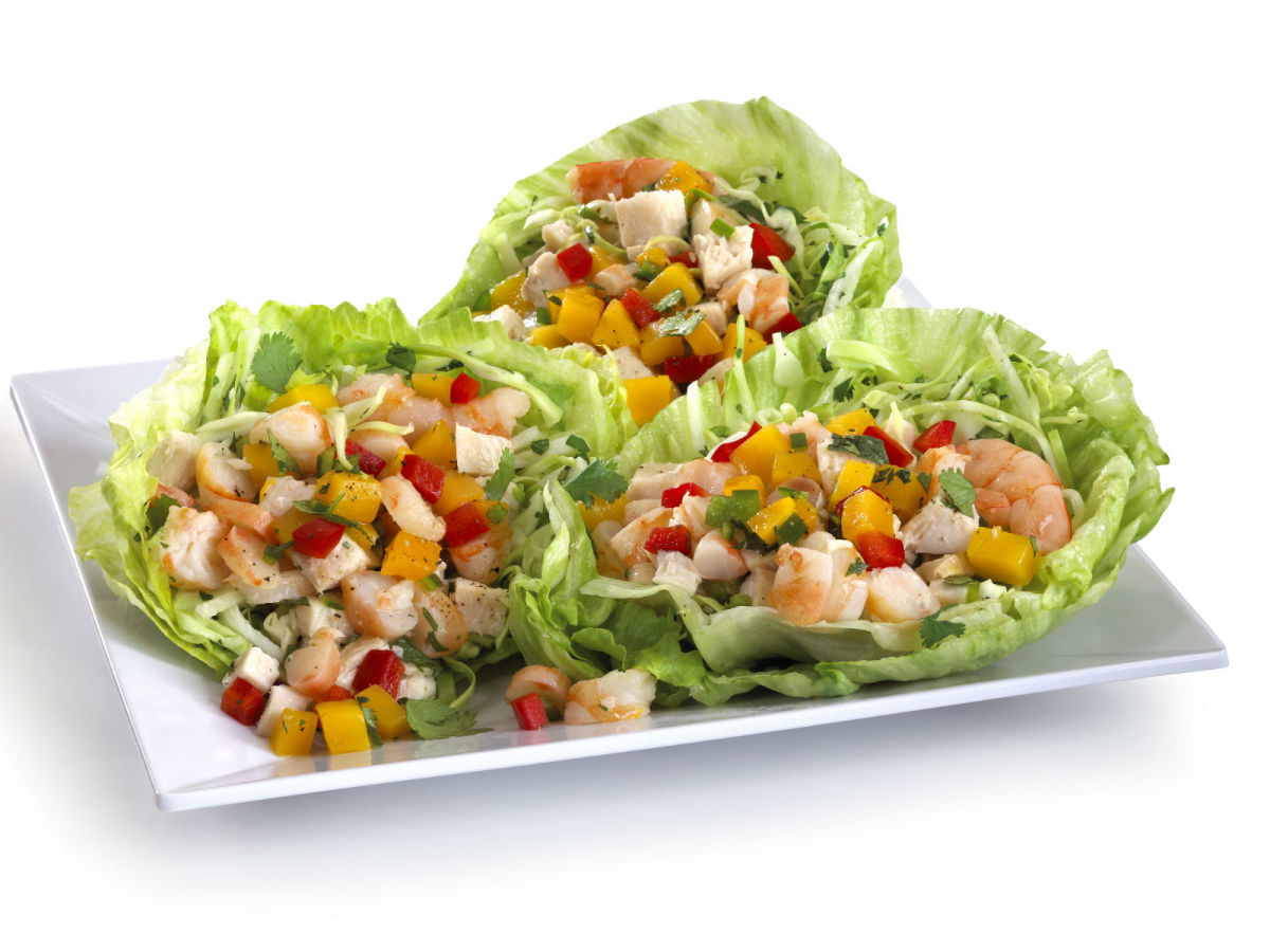 Ceviche lettuce wraps at Studio Movie Grill