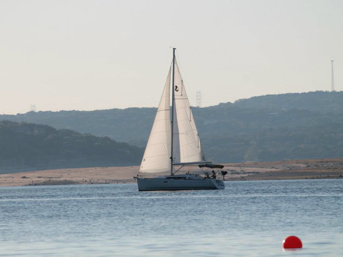 Sail boat on Lake Travis austin