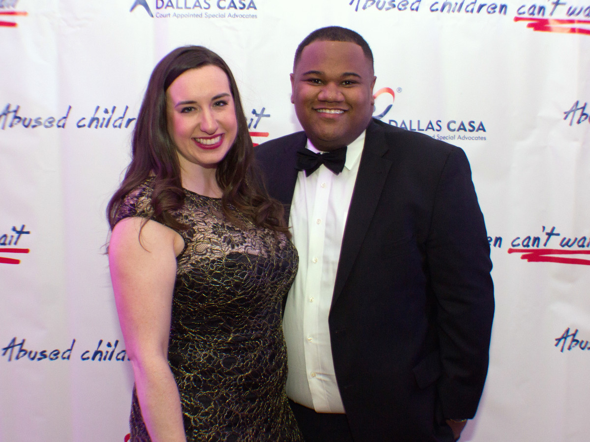 Dallas, CASAblanca gala, January 2018, Lauren Kinghorn, Donnie Edwards