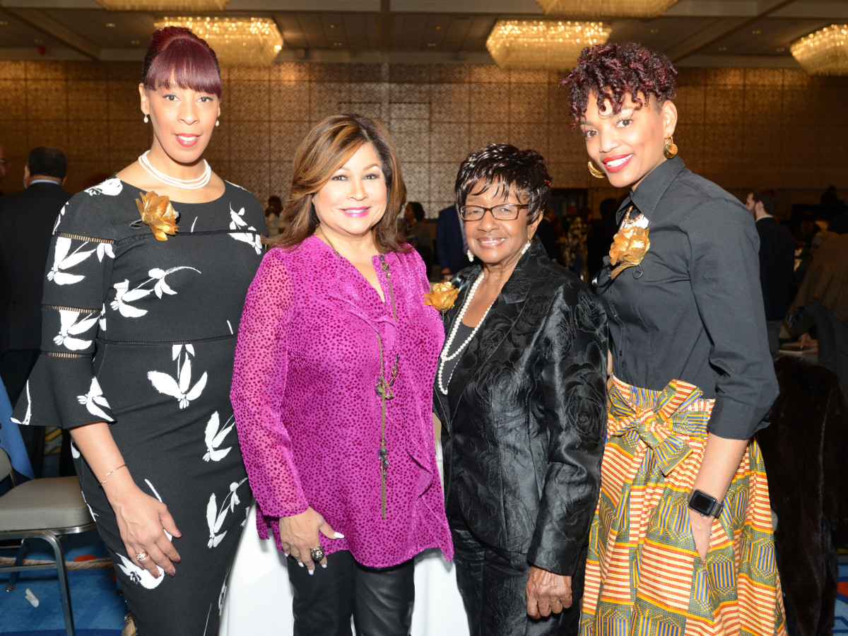 DBDT 2018 founders luncheon, Melissa M. Young, Clarice Tinsley, Ann Williams, Nycole Ray