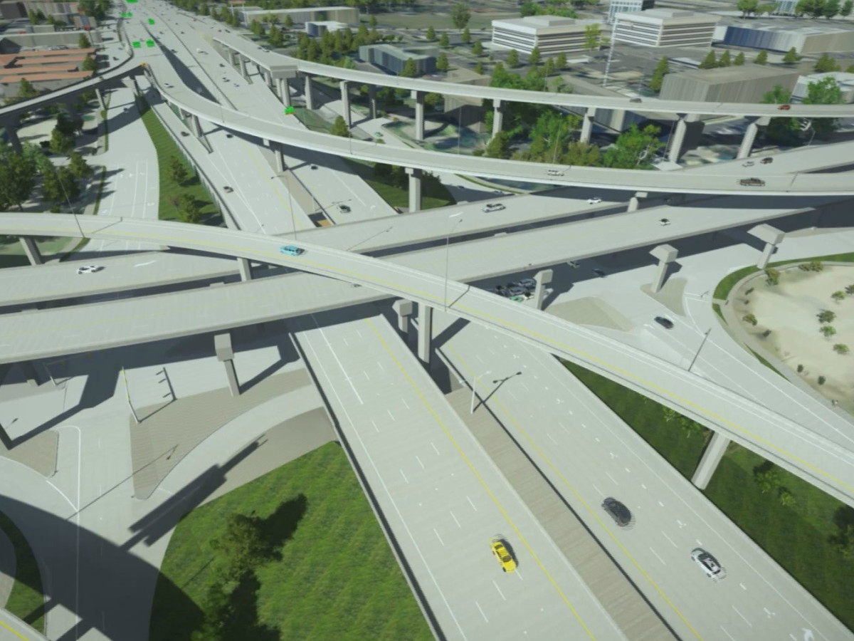 I-35 at 183 North Austin new ramps rendering
