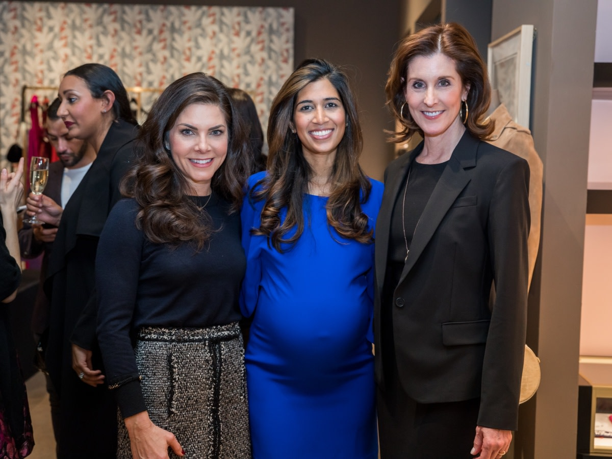 Houston, Table Talk Honoree party, January 2018, Monica Hartland, Divya Brown, Phoebe Tudor