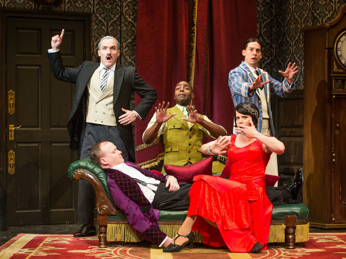 Broadway cast of The Play That Goes Wrong