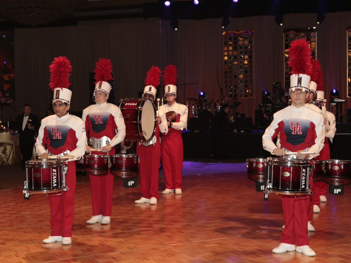 Houston, Heart Ball, February 2018, UH Drumline