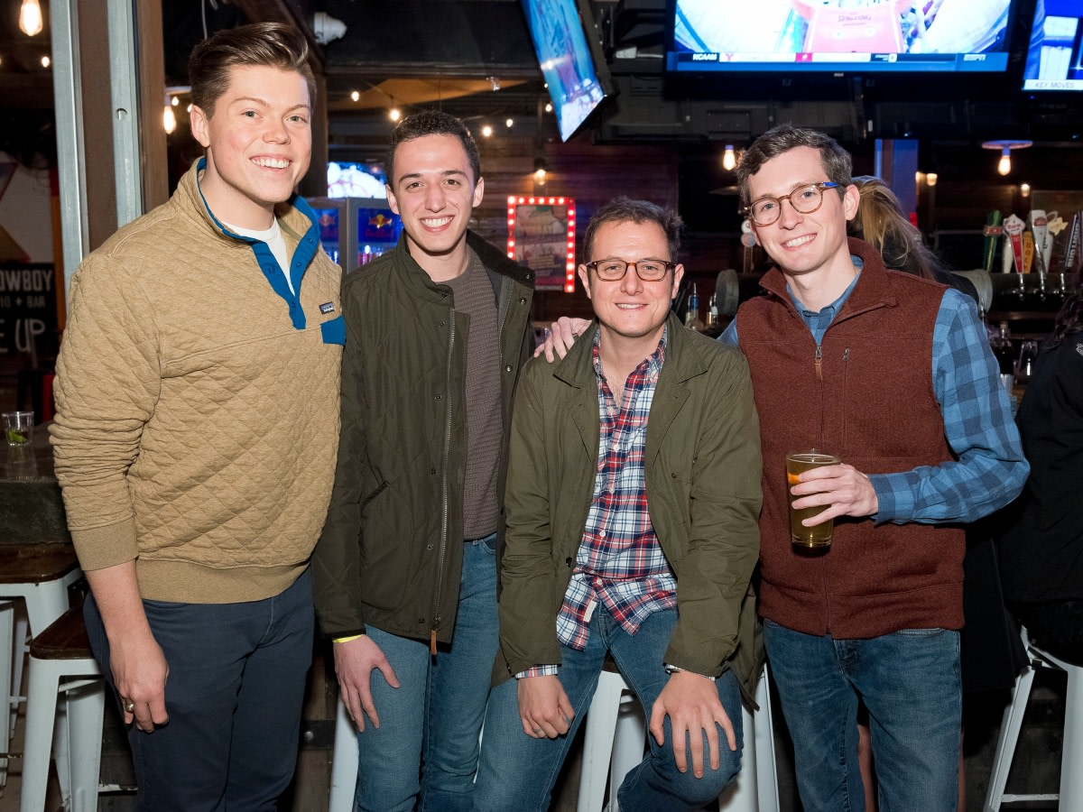 Houston, Redbuds date auction, February 2018, Andrew Tharp, Nick Puccio, Hunter McClain, Trey Bartsch