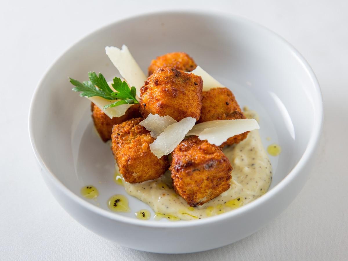 Fig & Olive Galleria truffle mushroom croquette