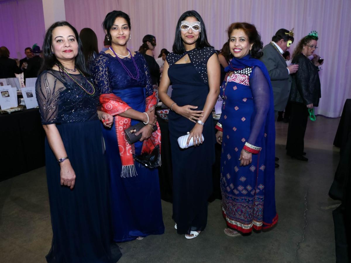 Rimla Joseph, Smirti Apte, Swathi Gonnalagadda, Dr. Fehmida Zahabi, Arthritis Foundation Mardi Gras Ball