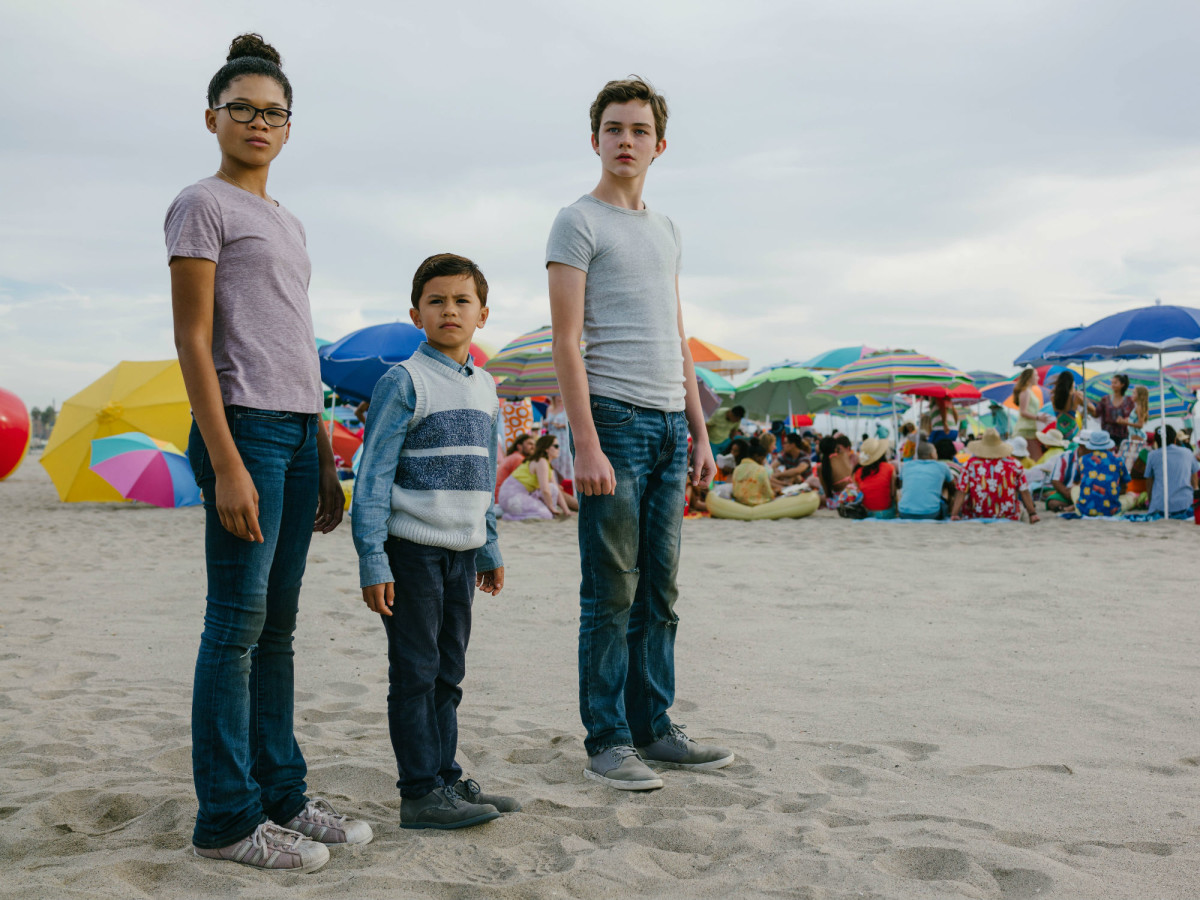 Storm Reid, Deric McCabe, and Levi Miller in A Wrinkle in Time