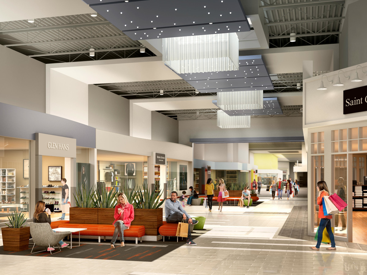 interior rendering new Katy Mills Mall