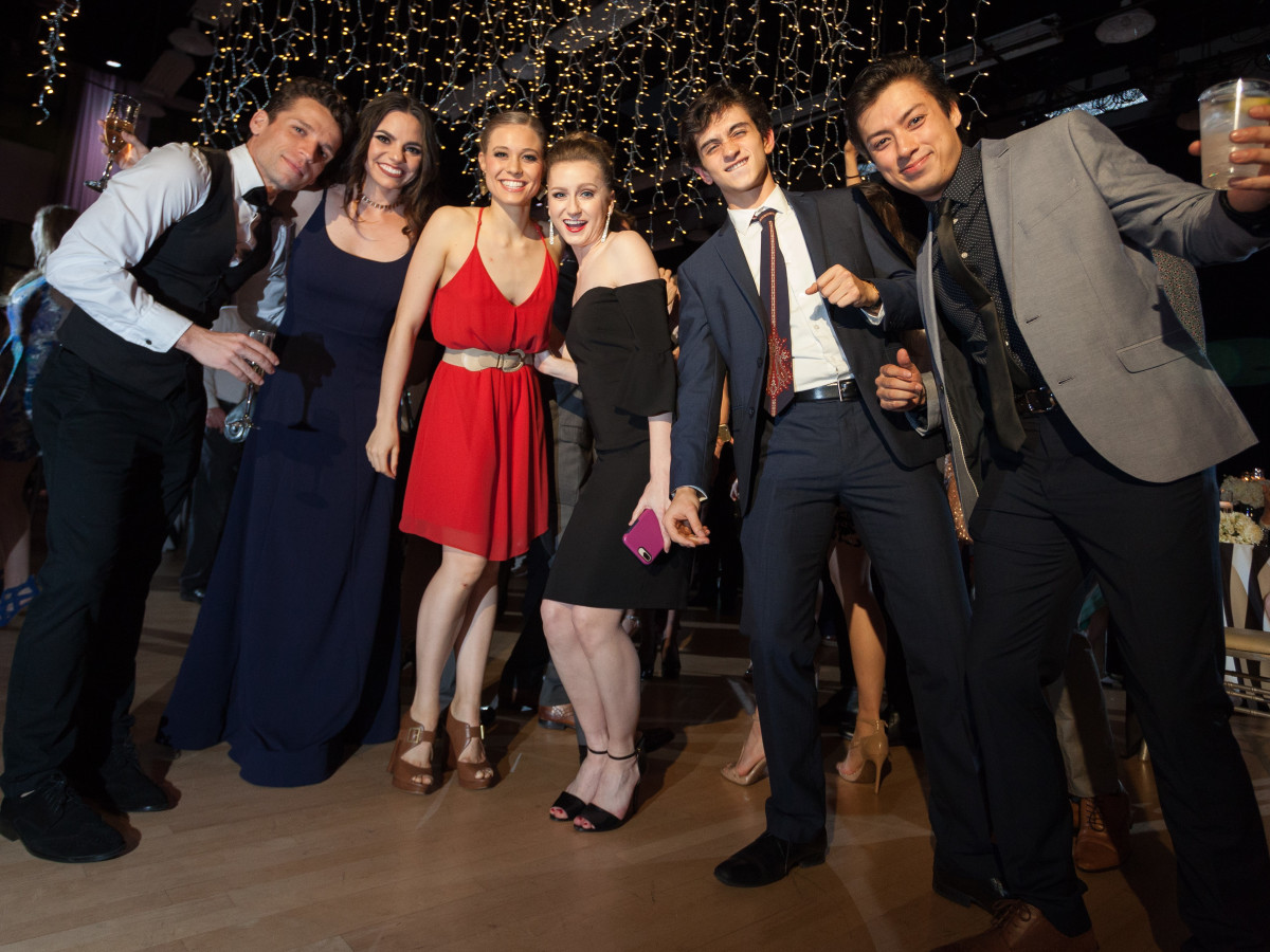 TBT company dancers Andre Silva, Michelle Taylor, Paige Nyman, Katelyn Rhodes, Valentin Batista and Kyle Torres-Hiyoshi, TBT Gala 2018