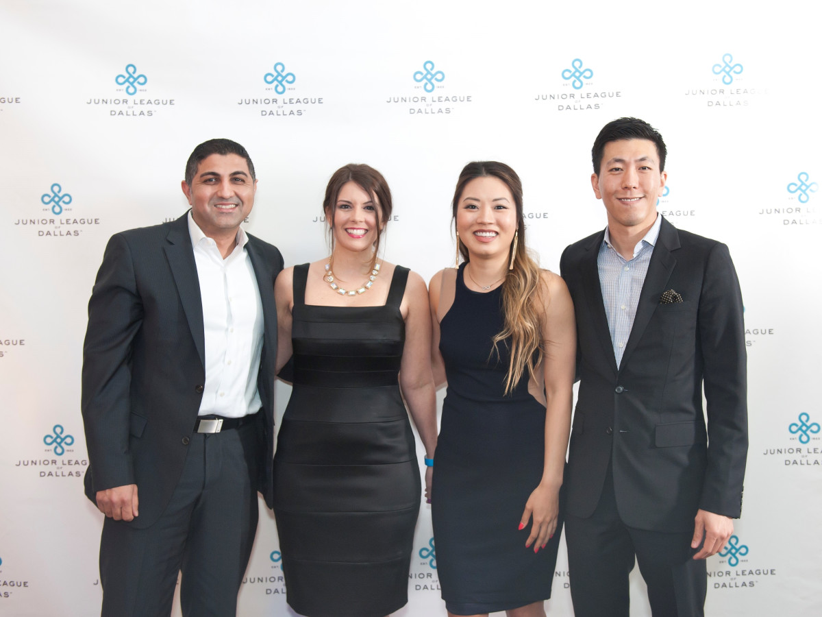 Junior League Viva Big D party 2018, Kevan Chughati, Melanie O'Neil, Melissa Luong and Joseph Kim