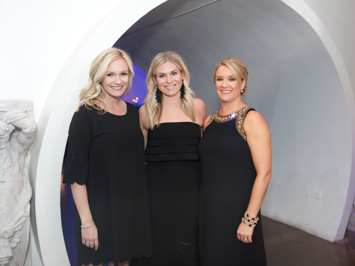 Junior League Viva Big D party 2018, Katie German, Brooke Burnett and JLD Auction Party Chair Heather McNamara