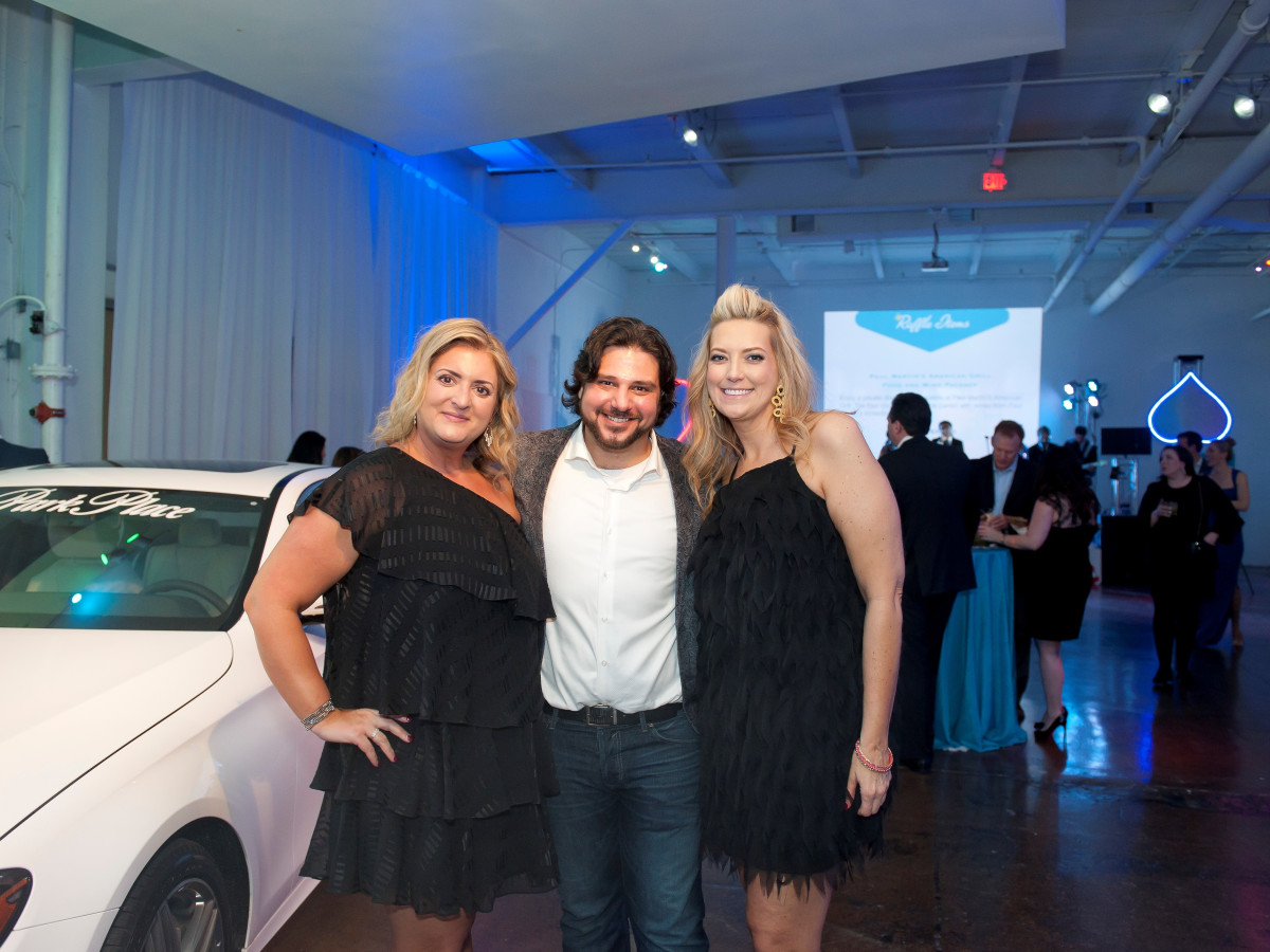 Junior League Viva Big D party 2018, Kristel Richards, Clint Jech and Kimberly Dean
