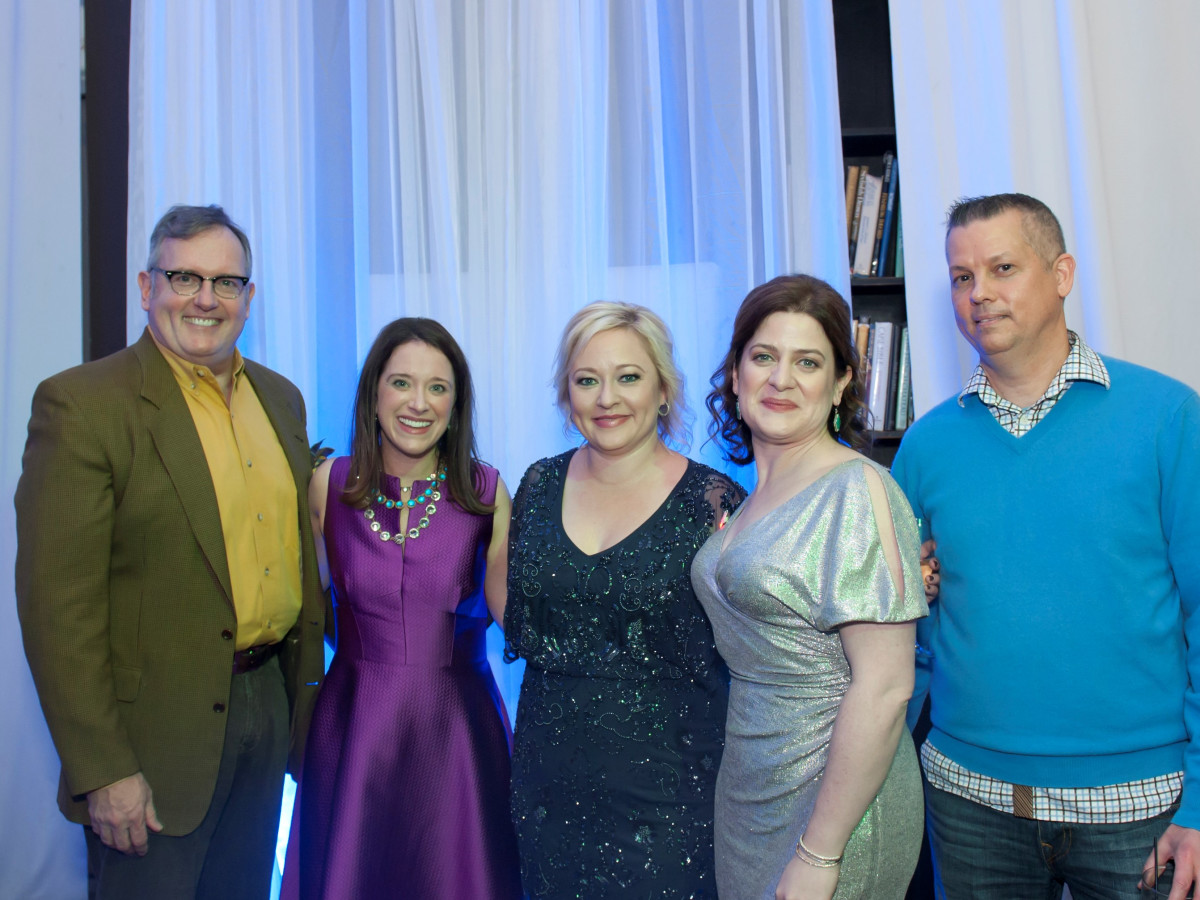 Junior League Viva Big D party 2018, Greg Nieberding, JLD President Jennifer Tobin, Heather Bonfield, JLD Development Vice President Elizabeth Dacus and Lance Hickman