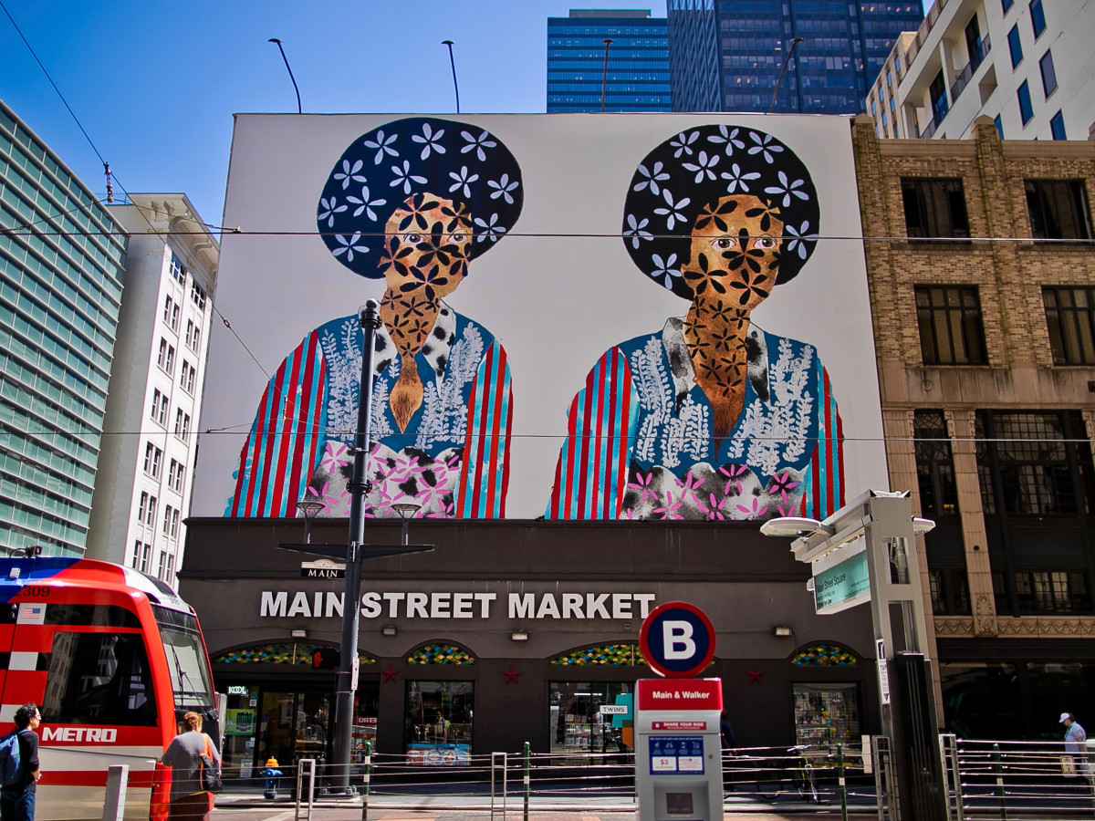 Main St. Sq. Art Blocks: Twins by Jasmine Zelaya