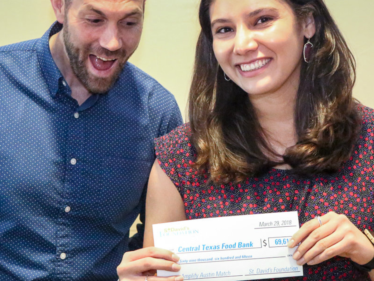 Mark Jackson and Felicia Pena of Central Texas Food Bank