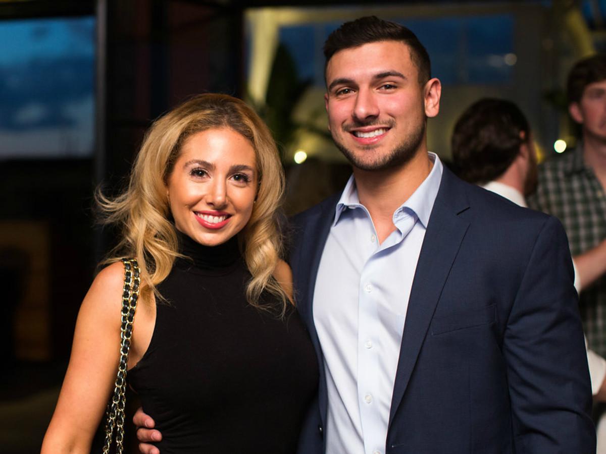 Sandrine Elhade and Zaid barazi