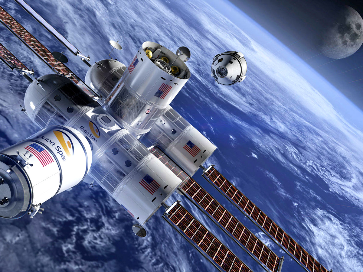 Houston space hotel rendering orbit
