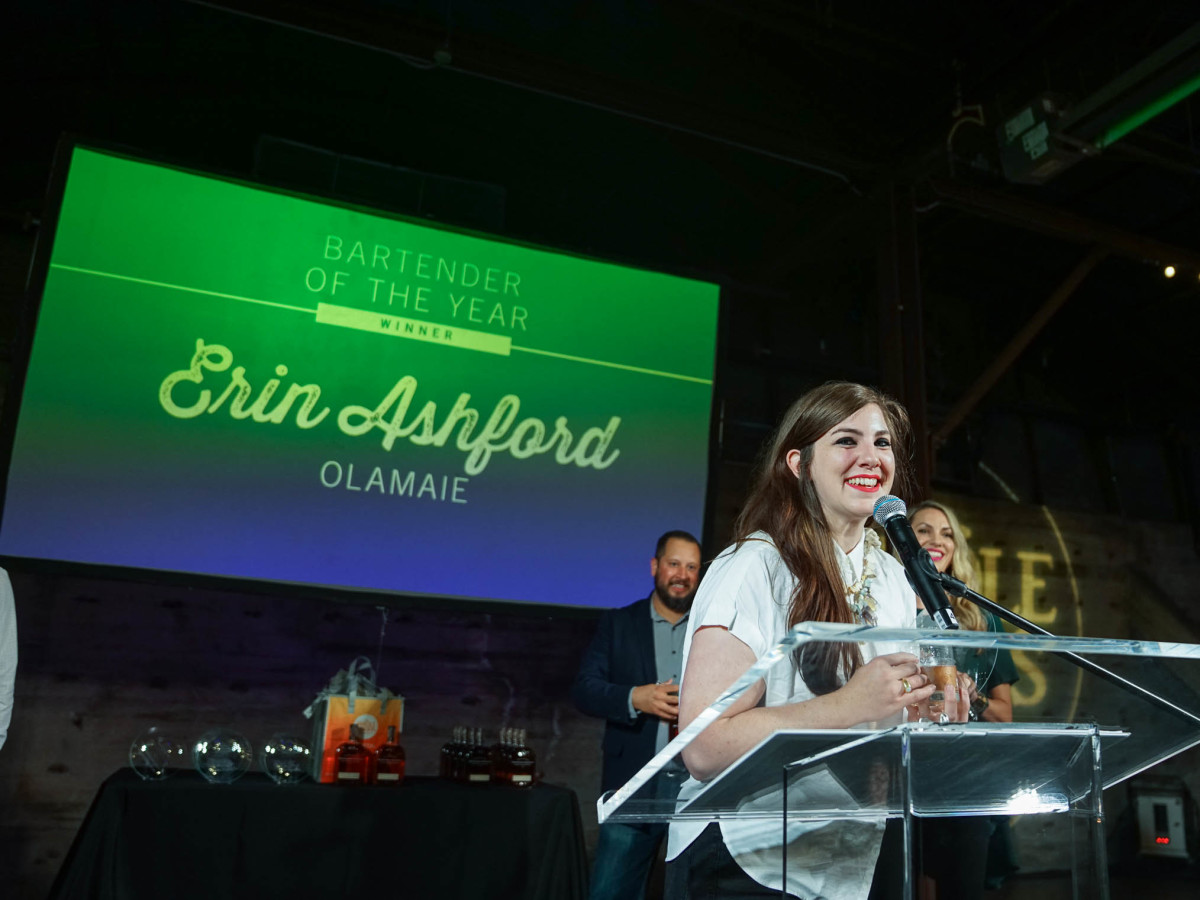 CultureMap Austin 2018 Tastemaker Awards at Fair Market Bartender of the Year Erin Ashford Olamaie
