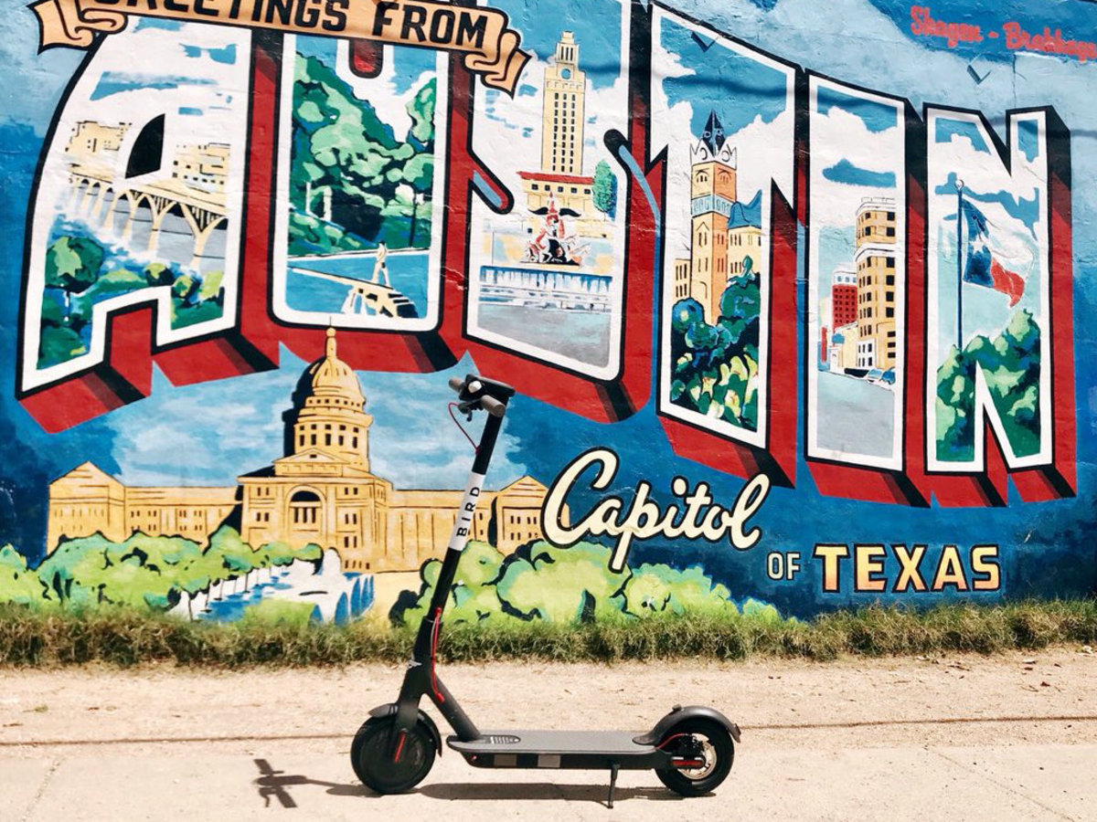 Bird Austin electric scooter