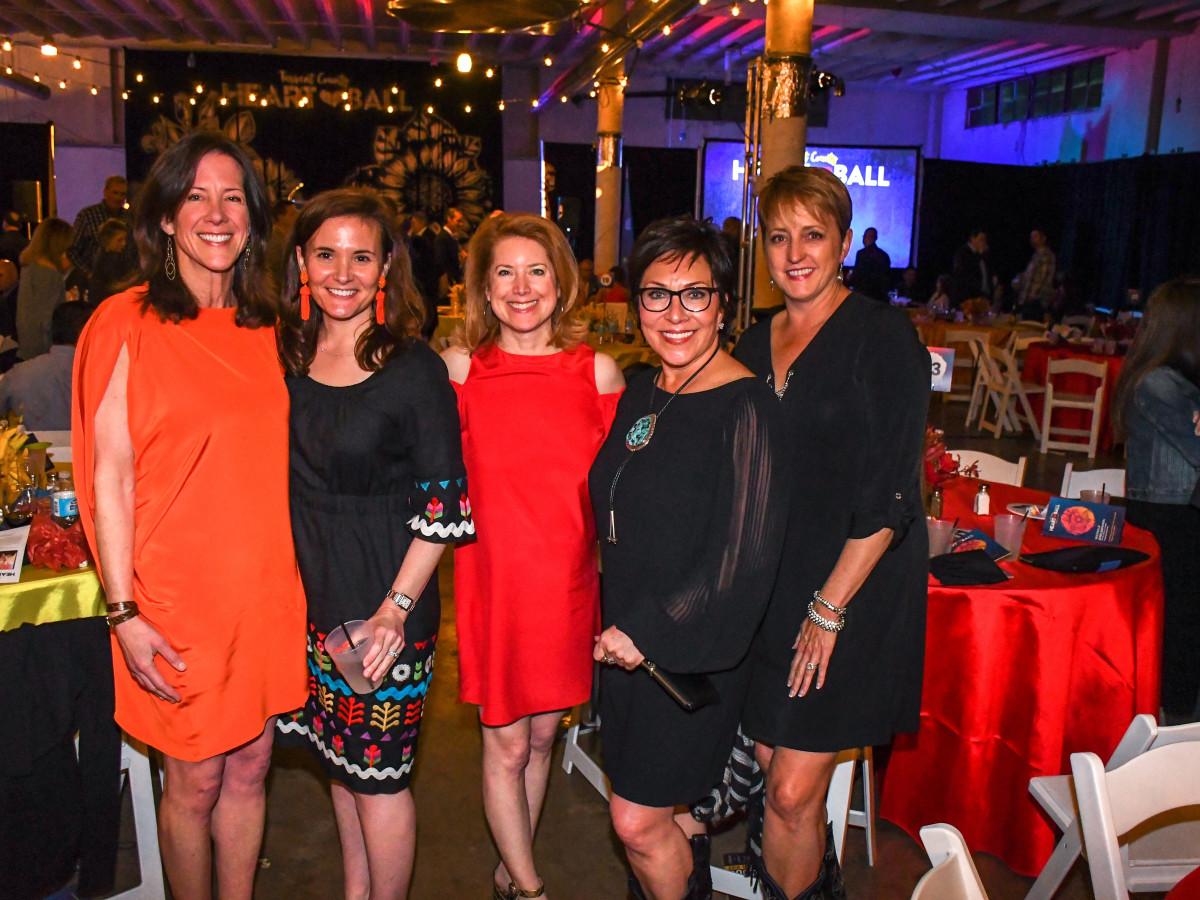 Stephanie Bernal, Courtney Radcliffe, Laura Baldwin, Sandra McGlothlin, Anne Holland, Tarrant Heart Ball