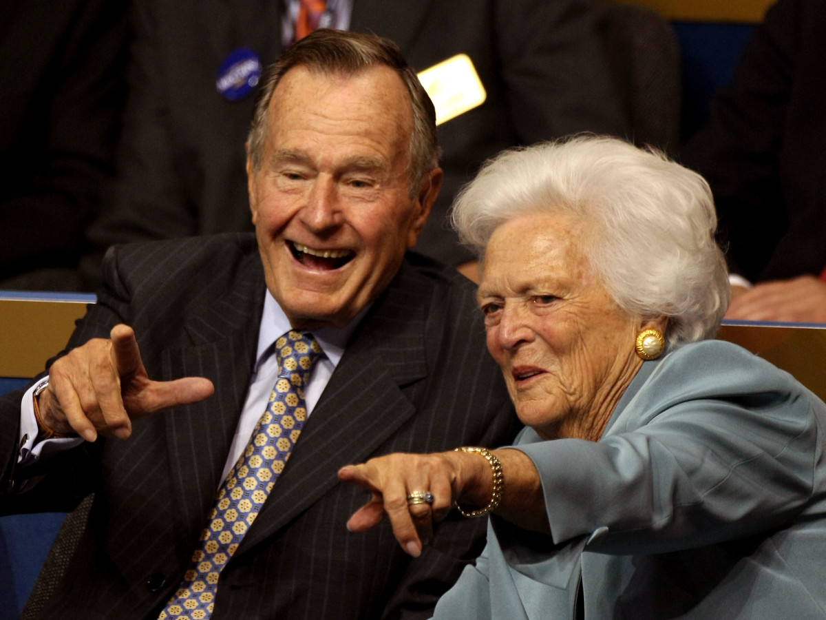 President Bush and Barbara Bush