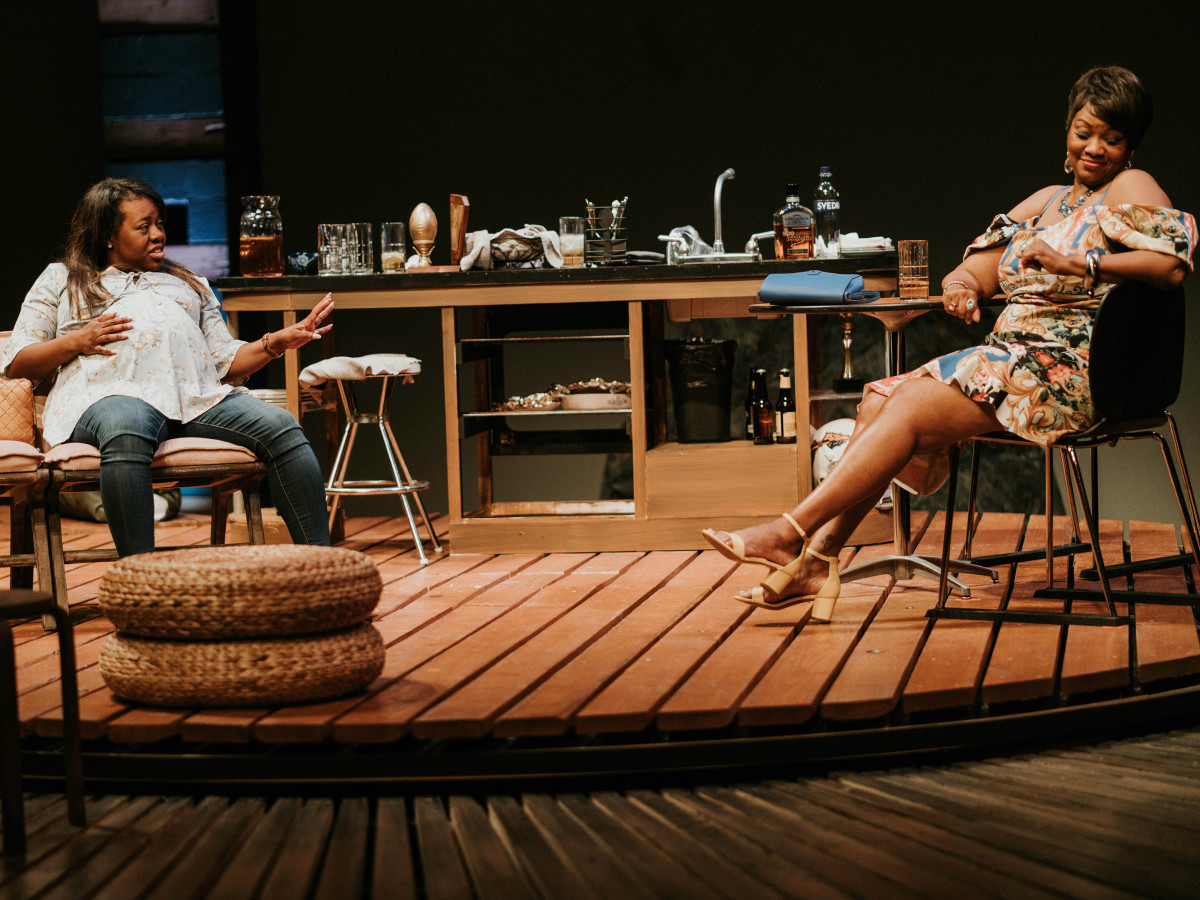 Stormi Demerson and M. Denise Lee in Bread at WaterTower Theatre