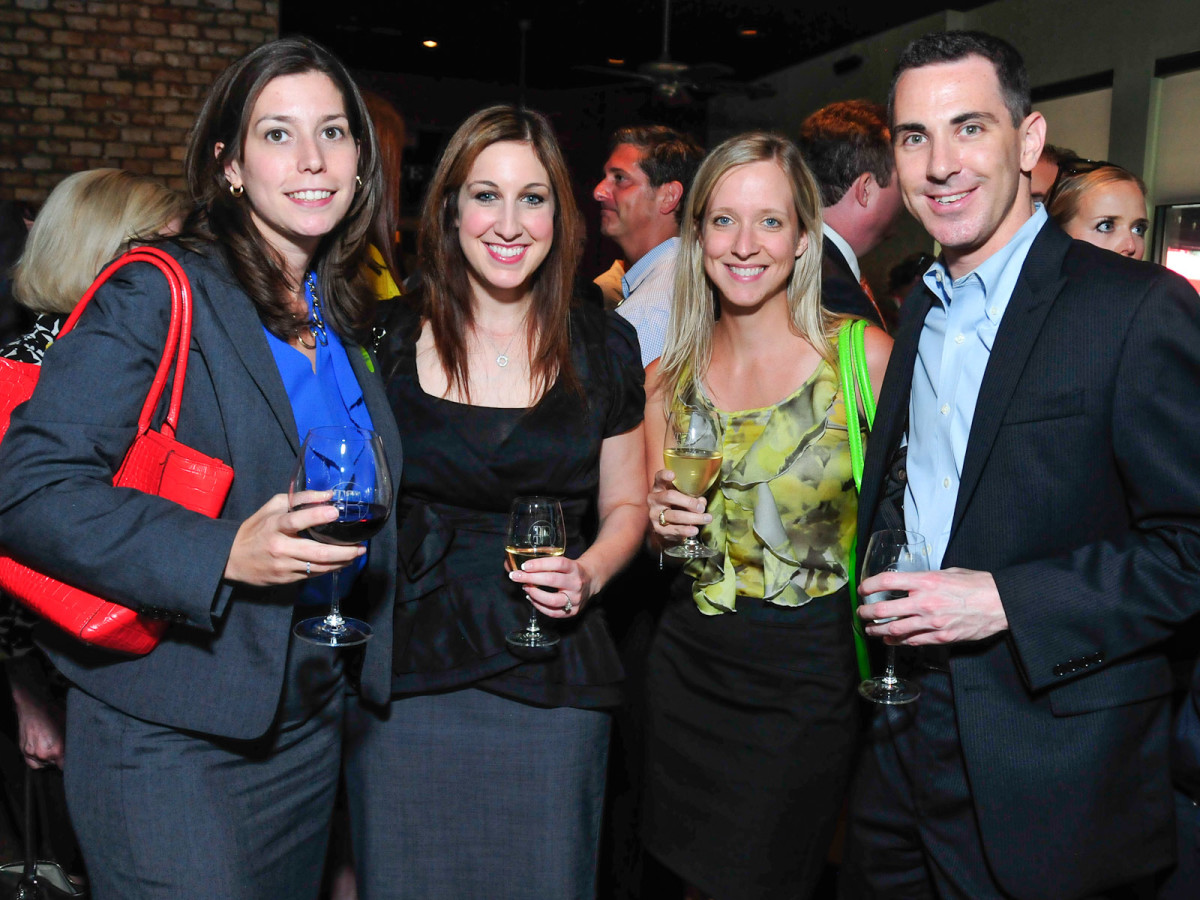 Back to School with SEARCH closing party August 2013 Cassie McGarvey, Jennifer Brand, Kimberly Evans, David Stockel