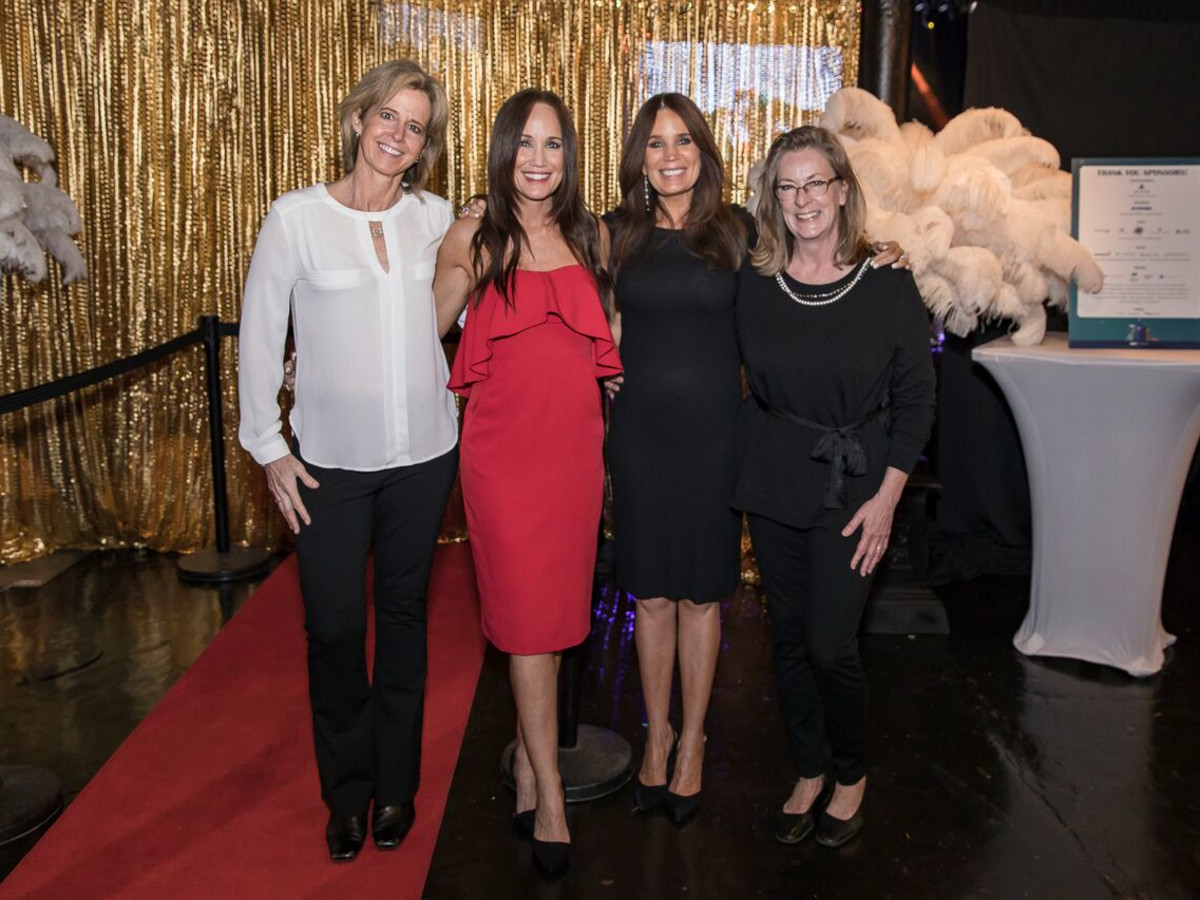 Equest After Dark Gala 2018, Stephany Younge, Michelle King, Debi Hensley, Jude Kazmaier
