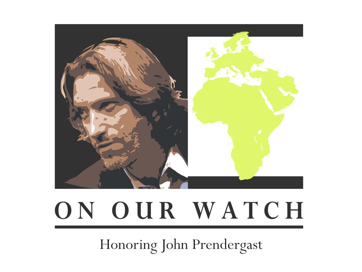 News_John Prendergast_On Our Watch_line art_logo