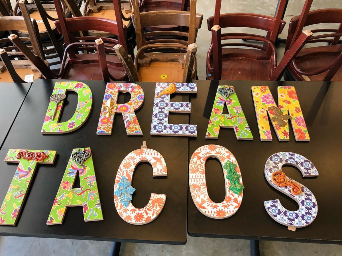 Dream Tacos TX sign Scott Jenni Weaver