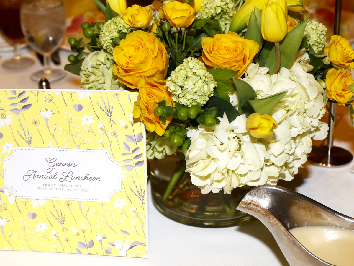 Floral centerpieces from The Garden Gate