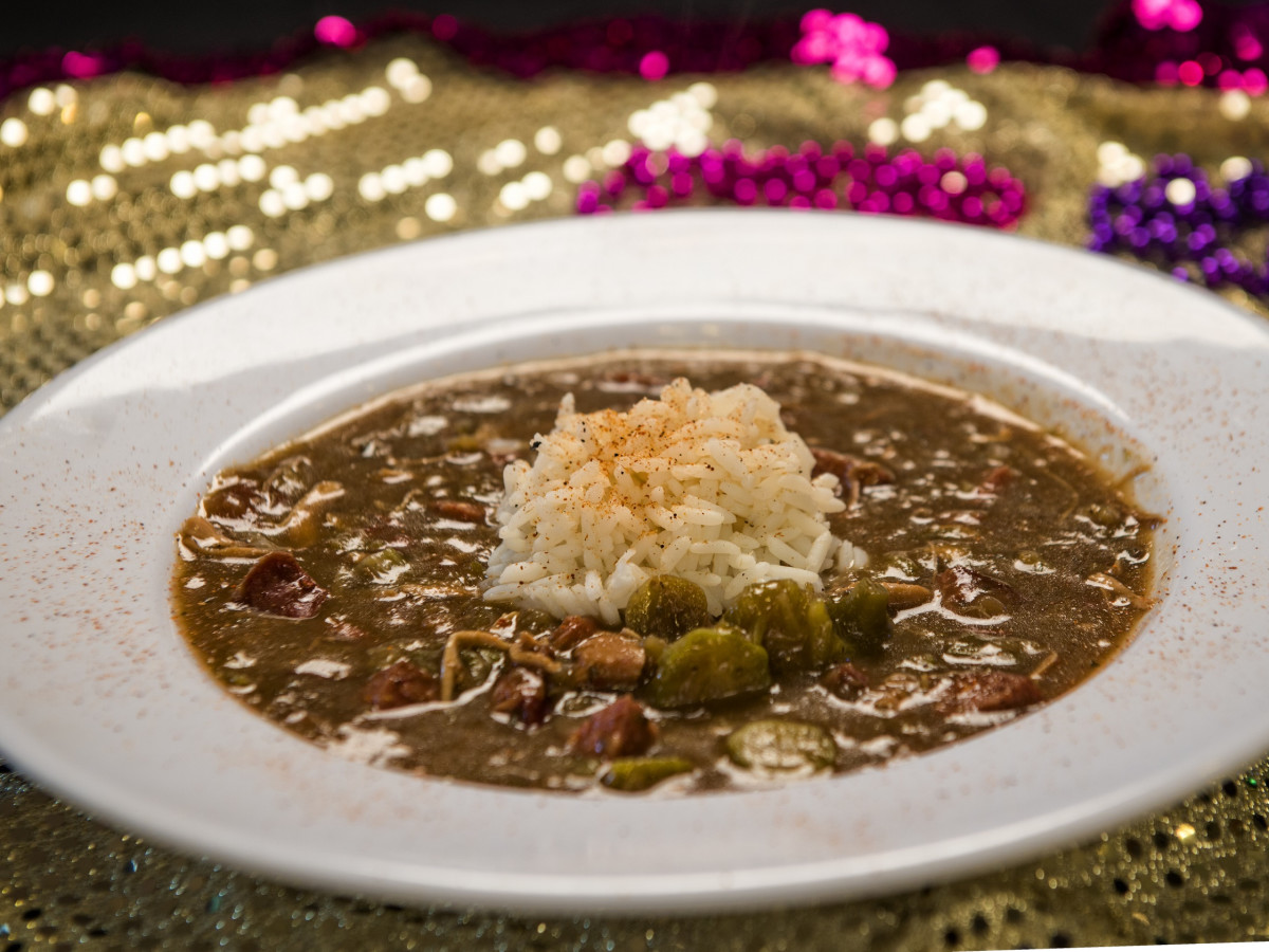 The Lost Cajun chicken sausage gumbo