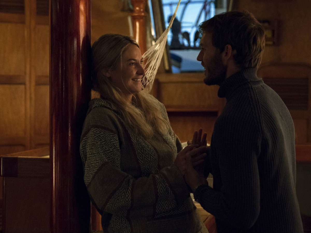 Shailene Woodley and Sam Claflin in Adrift