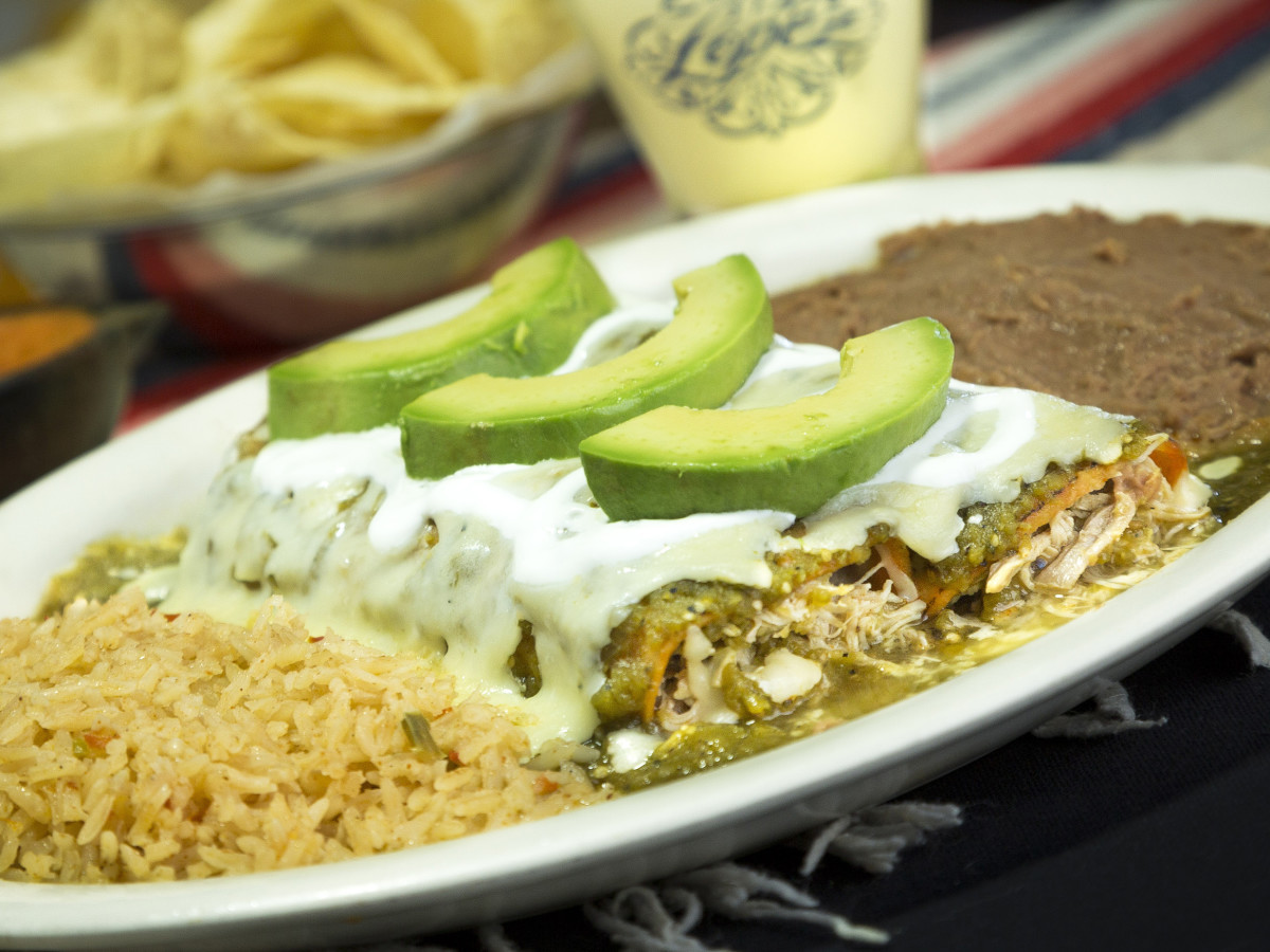 Lopez Mexican Restaurant Richmond enchiladas verdes