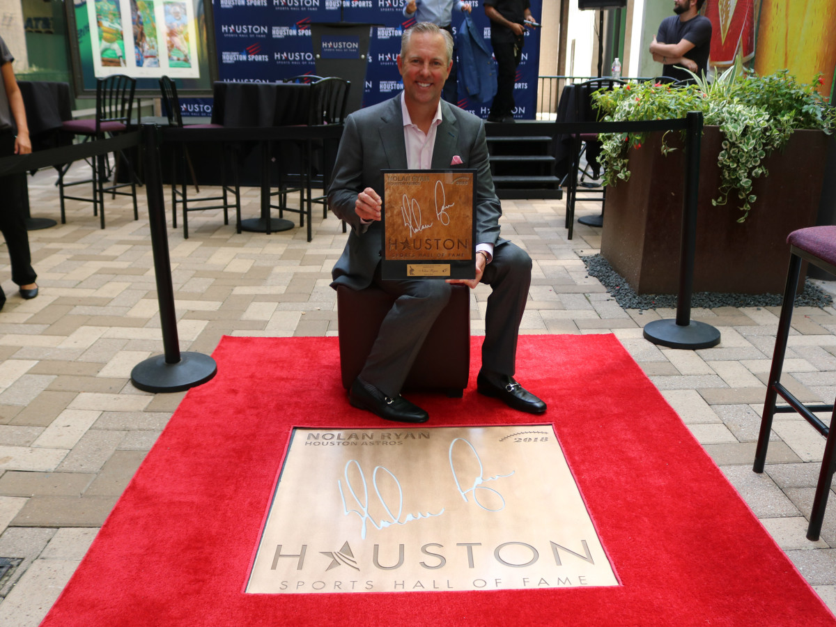 Houston Sports Hall of Fame rings Reid Ryan Nolan Ryan