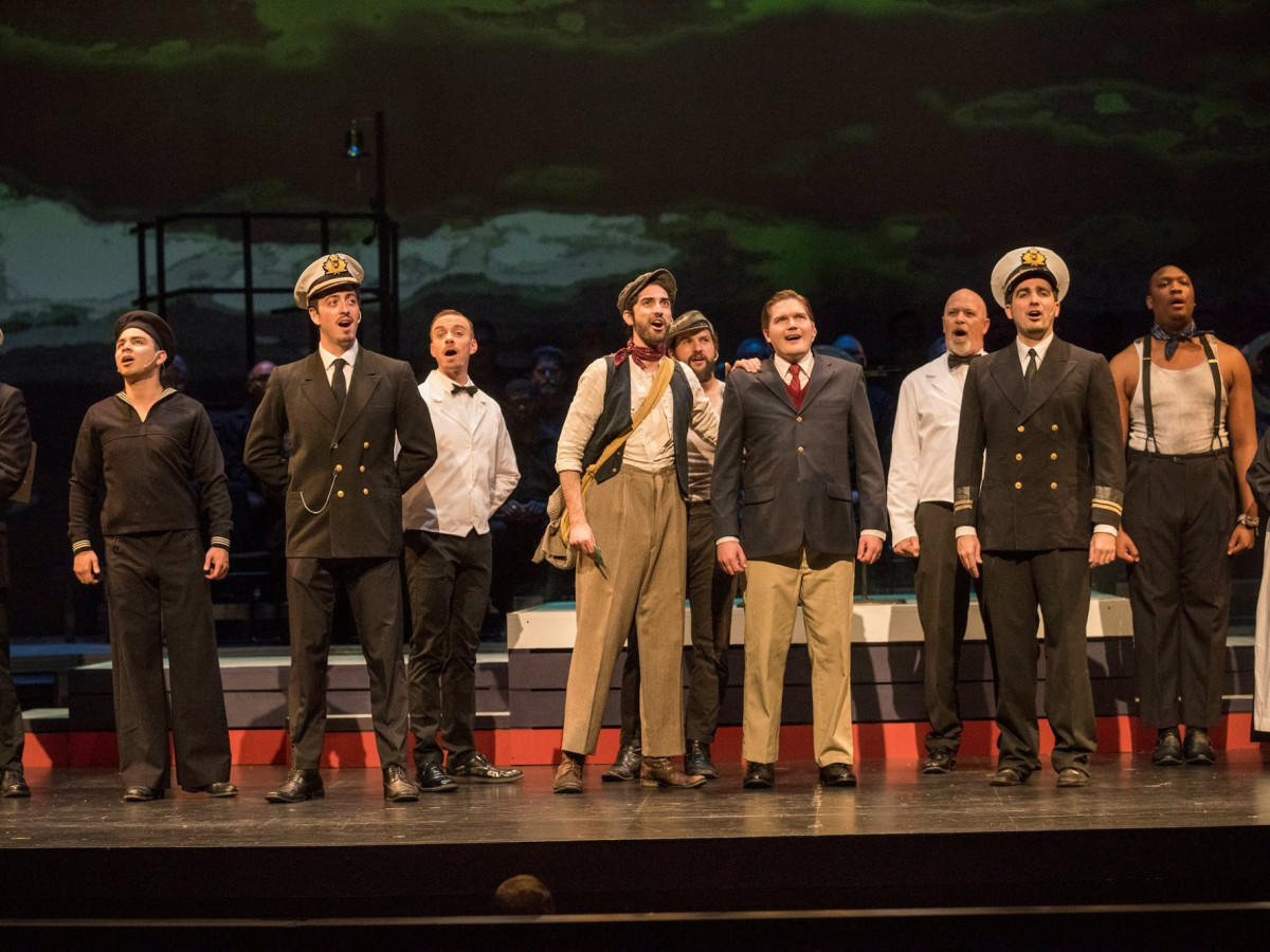 The cast of Titanic at Uptown Players