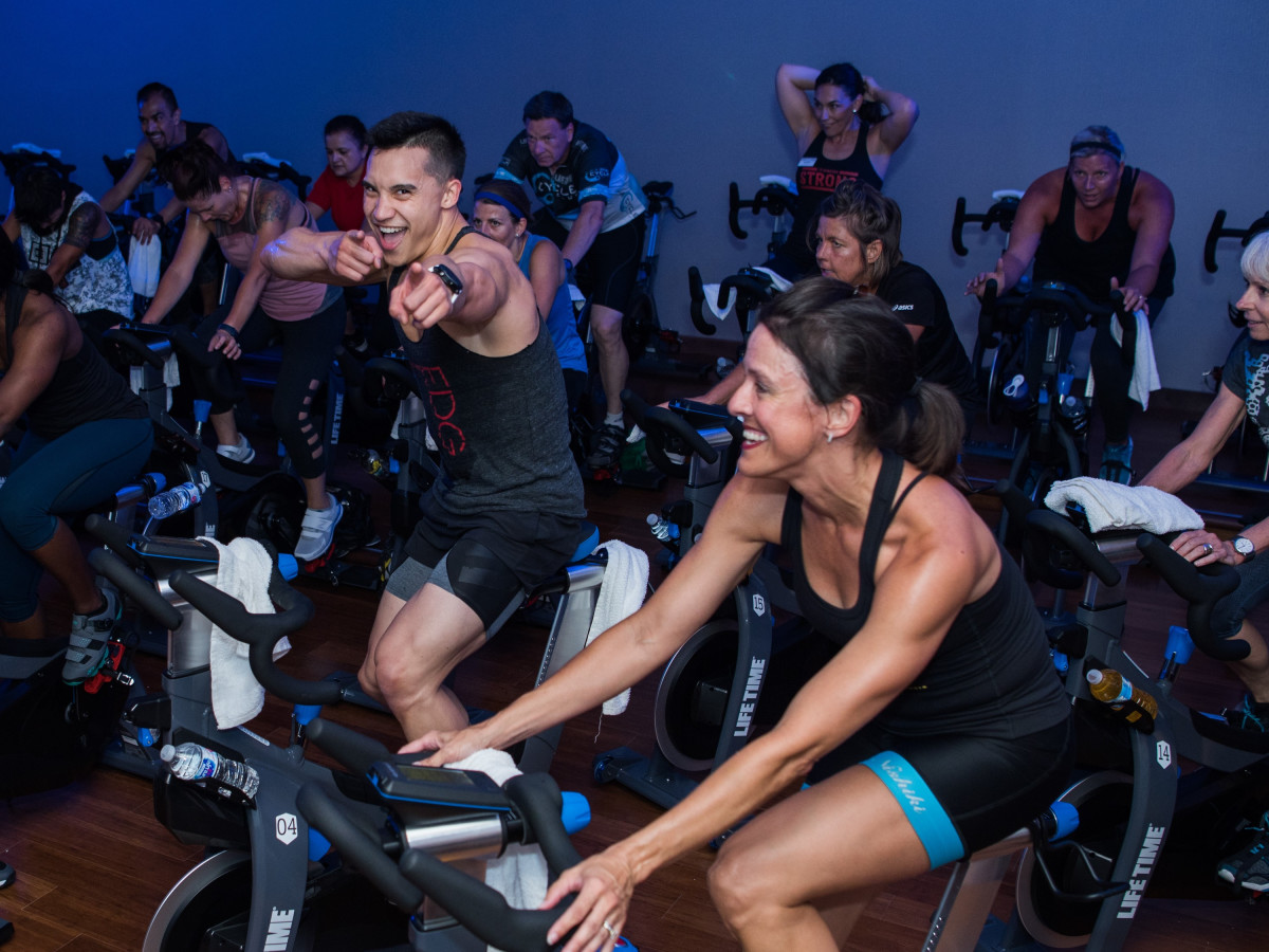 Cycle class, Life Time Athletic