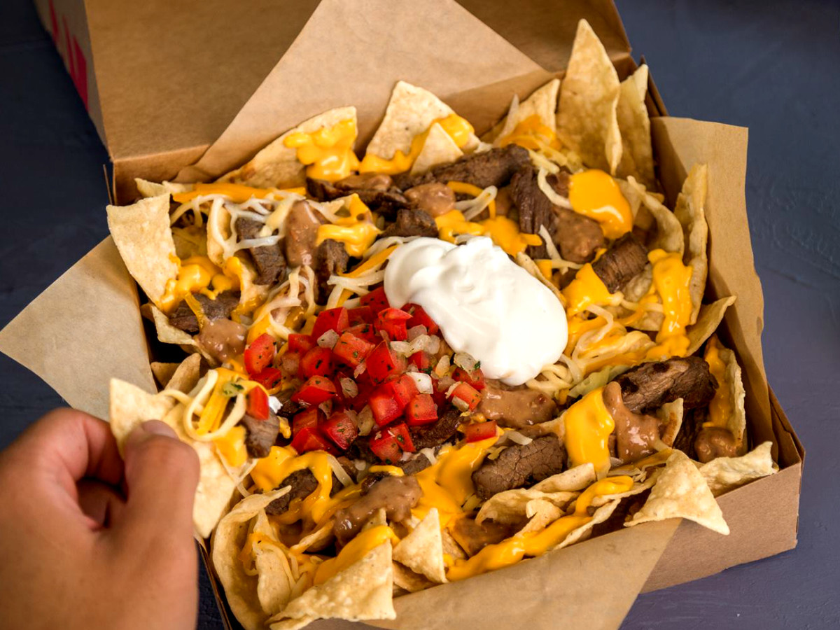 Taco Bell steak steak nacho box