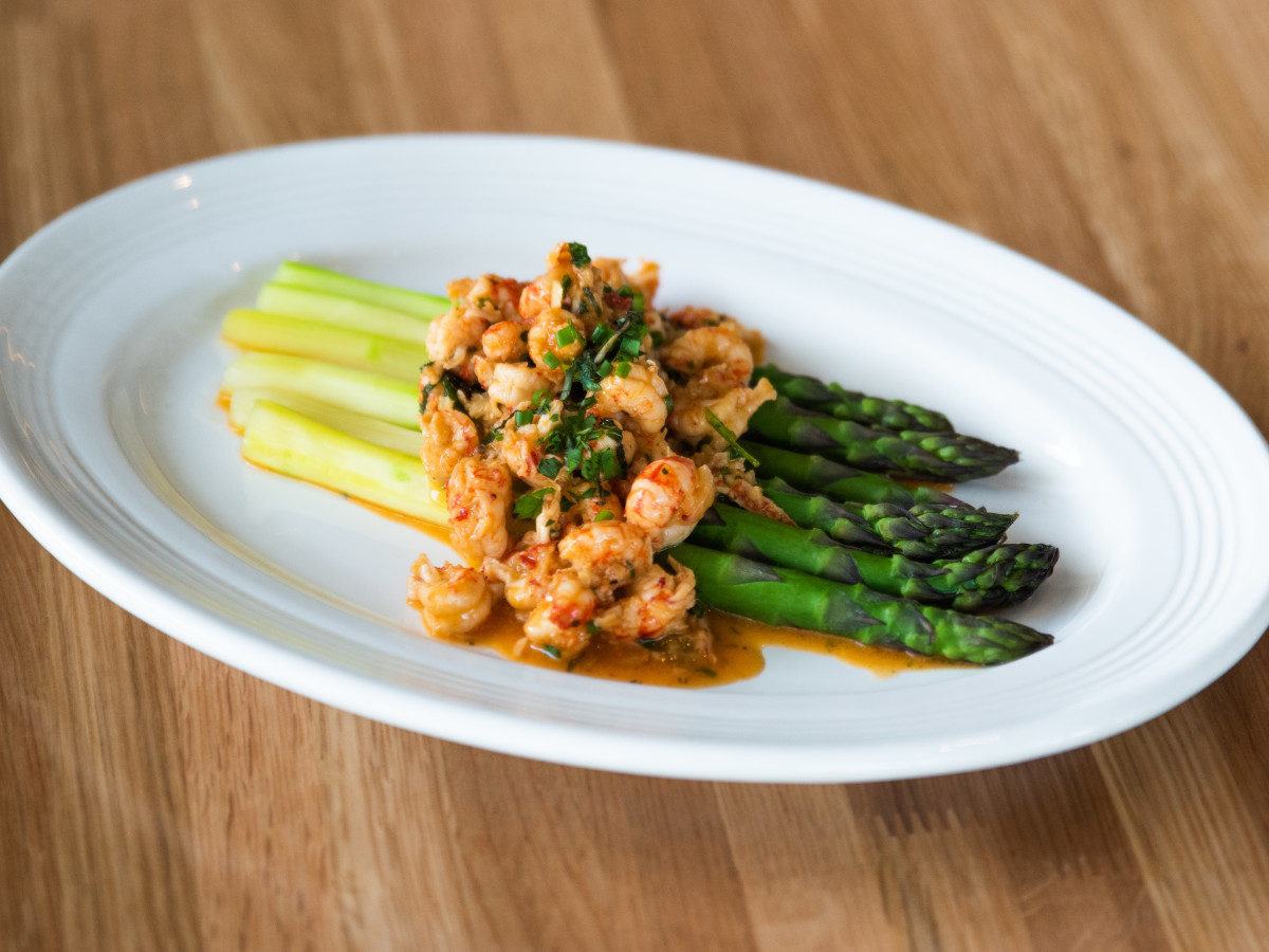 Austin Cookbook Cafe asparagus crawfish