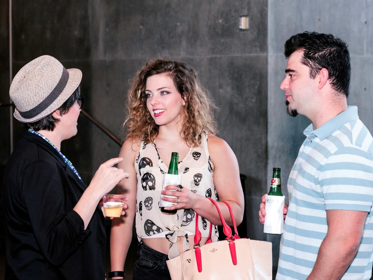 Ashley Jensen, Aimee Cardoso and Lucas Cardoso