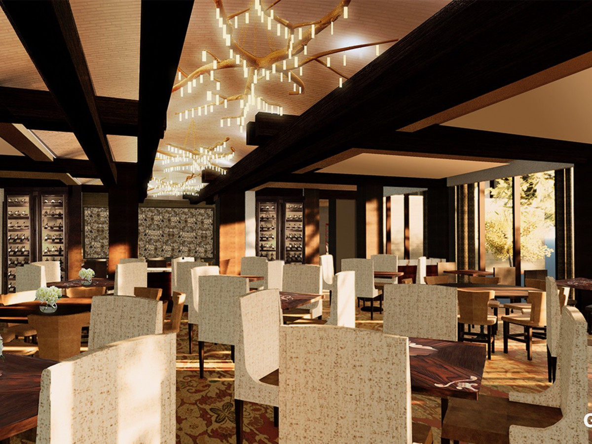 Houstonian Hotel Tribute restaurant rendering