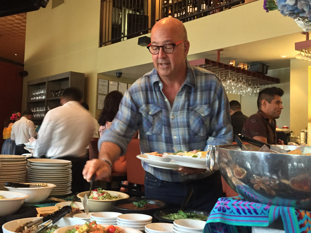 Andrew Zimmern at Hugo's